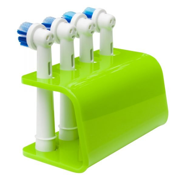 Seemii Toothbrush Holder for Oral B Electric Toothbrush Heads in Lime Green, 4 Head Holder